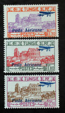 Timbre TUNISIE (COLONIE) / TUNISIA (COLONY) Stamp YT Aériens n°7 à 9 n* (Cyn24)