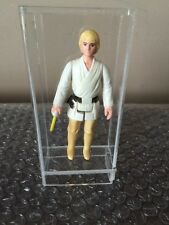 Kenner Star Wars Luke Skywalker Complete Original 1977 Farmboy HK Acrylic Case
