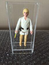 Kenner Star Wars Luke Skywalker Complete Original 1977 Farmboy HK Acrylic Case