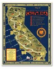 University of California MAP - UCLA Berkeley San Francisco circa 1939 -  24 x 30