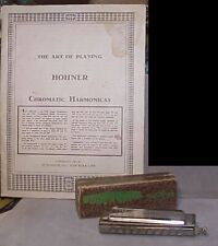 "Vintage Pre-war 1930s M.Hohner C The""Chromonica"" Chromatic Harmonica & booklet"