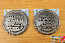 2016 Jeep Wrangler Set Of 2 75th Anniversary Edition Trail Rated 4x4 Emblems OEM