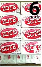 6x Zote Pink Soap (6) Bars 14.1oz Hand Wash Soap for Stains 400g Large Zote Soap