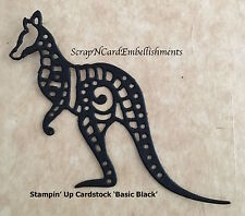 • • •Die Cuts ~ 'AUSTRALIAN WALLABY' x6 ~ Black ~ Stampin Up C/S - Cards