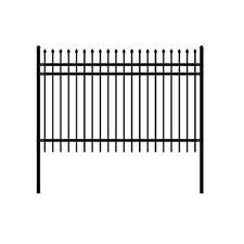 ALEKO Rome Style DIY Disassembled Steel Yard Fence 8Ft x 6Ft Black