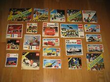 Vintage 70s 80s LEGO Instructions lot