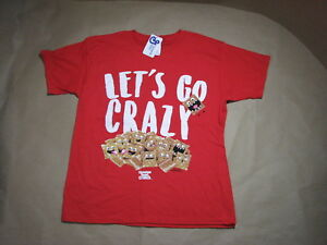 General Mills Cinnamon Toast Crunch Cereal Red T-shirt Go Crazy Youth Large