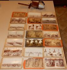 Antique Keystone Stereoscope Viewer & With Photo Card Lot READ