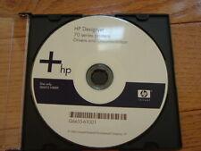 Original Windows StartUp disk for HP DesignJet 70 Printers.Drivers,Manuals,DVD
