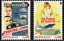 Grace Kelly Movies Rear Window, Bridges at Toko-Ri, 2 mnh stamps 2016 Monaco