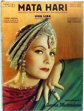 HOLLYWOOD CINEMA ILLUSTRAZIONE N.1 1932 MATA HARI GRETA GARBO RAMON NOVARRO