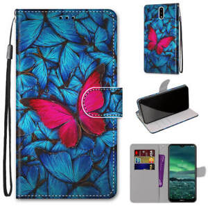 For Nokia 3 Cartoons Painted Magnetic Leather Flip Wallet Bracket Case Cover