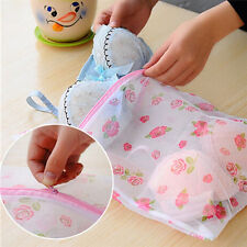 New Flower Printed Washing Laundry Bag Mesh Bra Underwear Socks Shirts Mesh Bag