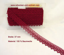 Baumwoll-Spitze Borte 40 mm breit rotlila