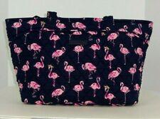 NWT Vera Bradley Mandy FLAMINGO FIESTA 15824 Purse Shoulder Bag Blue Pink 1bfb98422e236