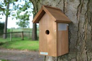 Bird Box Pitched Roof | Traditional Wooden Garden Wall Hanging Wild Birds Nest