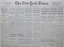 10-1938 October 19 PALESTINE RULED BY ARMY AS SIEGE IN CAPITAL GOES ON.JERUSALEM