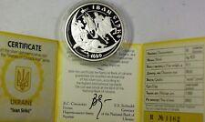 2002 Ukraine 10 Hryvnias Ivan Sirko Silver Proof Commemorative Coin