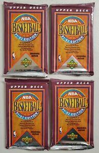 1991-92 Upper Deck Basketball Lot of 4 (Four) Sealed Unopened Packs Jordan**