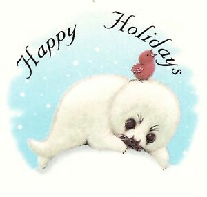 Christmas Happy Holidays Seal Select-A-Size Ceramic Waterslide Decals Xx