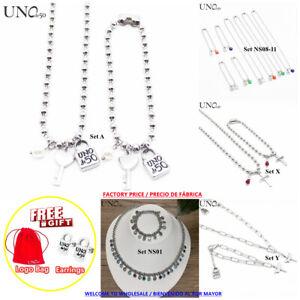 UNO de 50 Jewelry Set Women's Pearl Bead Padlock Bracelet+Necklace+Free Earrings