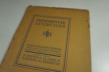 Satzmuster première hongroise police FONDERIE H. Berthold D. cachet type specimen