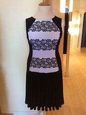 Joseph Ribkoff Dress Size 16 BNWT Black And White Sleeveless RRP £232 NOW £104