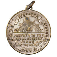 Daily Dispatch Birthday Club - King George V - Silver Jubilee Medal - 1935