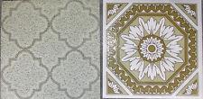 Vintage Mid Century Flooring Scraps Linoleum Crafts Mosaic Broken Hard Cracked