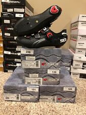 New Sidi Genius Fit Carbon Black Road Cycling Shoes Sizes: 5.5 7.5 8.25 10.25
