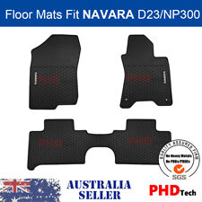 Premium Quality All Weather Rubber Floor Mats for NISSAN Navara NP300 D23