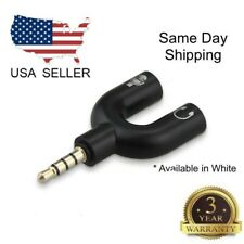 3.5mm Audio Aux Cable Cord Splitter Adapter For Headphone Headset PC IPhone LG