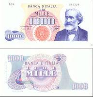 1964 Italia Banconota Lire 1000 Verdi DM 25-07-1964 Rara 3 Quasi Fior Di Stampa.