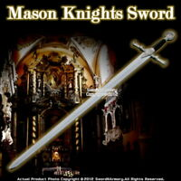 "45"" Foam Padded Mason Knights Templar Crusader Sword Costume Prop Cosplay LARP"