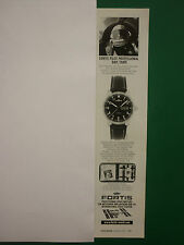 1/2001 PUB MONTRE FORTIS SPACE WATCH MIG 25 WORLD RECORD ORIGINAL GERMAN ADVERT