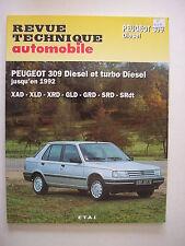 revue technique automobile RTA neuve Peugeot 309 diesel et turbo diesel