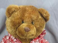 BIG AEROPOSTALE RED HOODIE BROWN TEDDY BEAR SOFT LOVEY PLUSH STUFFED ANIMAL