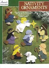 Nativity Ornaments ~ plastic canvas pattern leaflet  ~  Annie's
