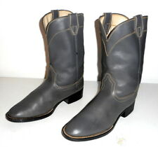 Mens Size 5 D Cowboy Boots Laredo Grey Ropers Vintage Gray Country Western Shoes