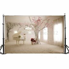 Toile de Fond Backdrop Tissu 150*90cm Photographie Studio Photo Piano Arbre Déco
