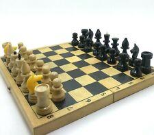 Original Wooden Chess SMALL Wood Chess Set Soviet 30x30cm CCCP 60's