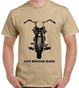 Biker T-Shirt Mens Motorbike Funny Motorcycle Indian Triumph Chopper Cafe Racer