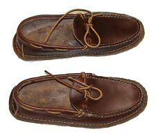 Polo Ralph Lauren Myles Saddle Oil Leather Crepe Made In USA Slipper Loafer $450