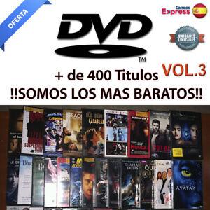 Peliculas DVD PRECINTADAS. Ediciones Españolas. Mas de 400 Titulos!! DVD. VOL 3