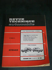 REVUE TECHNIQUE AUTOMOBILE n° 295 AUTOBIANCHI