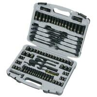 Mechanics Tool Set Socket Ratchet Wrench Deep Shallow Metric SAE Screwdriver Bit