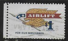 Scott# 1341  $1 AIRLIFT for servicemen - Santa Clara Cancellation