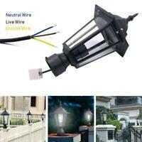 Post Light Holder Outdoor Garden Patio Driveway Yard Lantern Lamp Fixed Wall