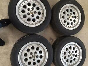 Alfa Romeo 75 speedline wheels 14 set lot of five