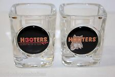 set of 2 Heavy Thick HOOTERS Shot Glasses - Celebrating for 30 years. NEW!